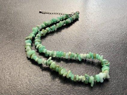 náhrdelníky z minerálů, chrysopras náhrdelník