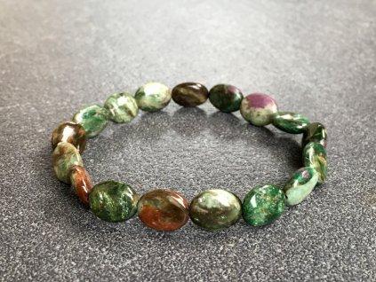 náramky z minerálů, smaragd náramek