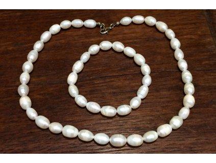 říční perla set náramek a náhrdelník