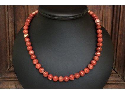jaspis červený náhrdelník
