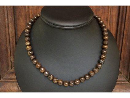 bronzit náhrdelník