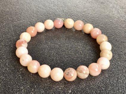 náramky z minerálů, opál růžový, andský náramek