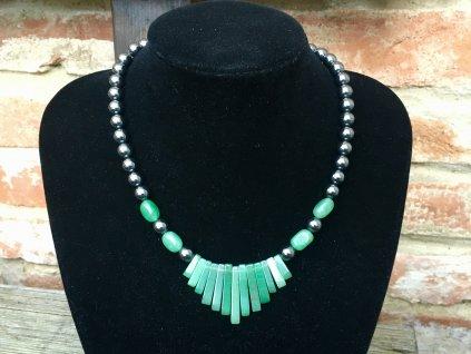 hematit, avanturín zelený náhrdelník
