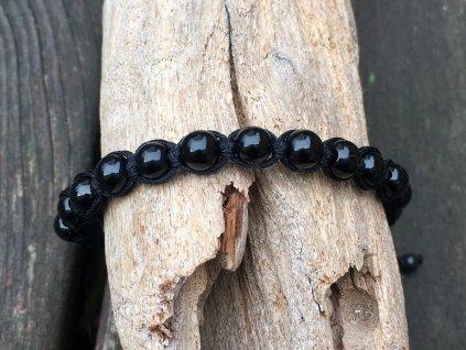 onyx černý náramek shamballa