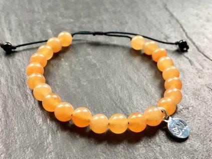 náramky z minerálů, avanturín oranžový náramek