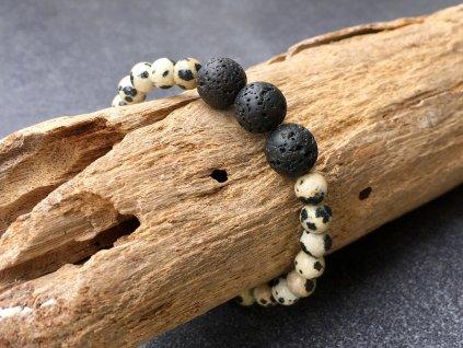 Jaspis dalmatin, láva náramek