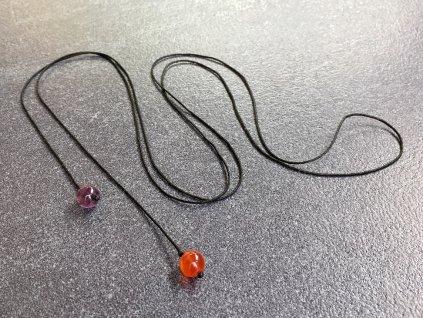 náhrdelník pro znamení BERAN karneol, ametyst