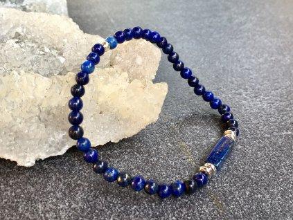 náramky z minerálů, lapis lazuli hematit náramek