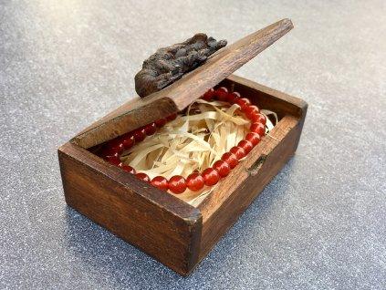 dárková kazeta, dřevěná krabička, slon