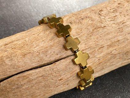 náramky z minerálů, hematit křížek náramek