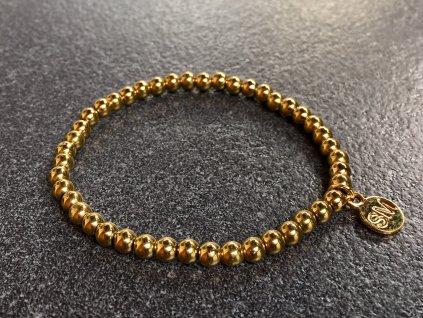 náramky z minerálů, hematit zlatý náramek