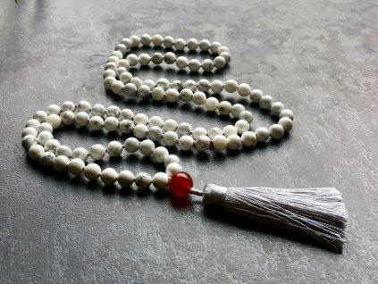 náhrdelníky z minerálů, mála náhrdelník magnezit, achát
