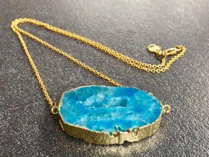 náhrdelníky z minerálů, achát