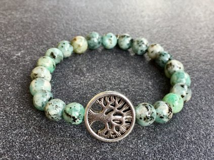 náramky z minerálů, jaspis sezamový, strom života náramek