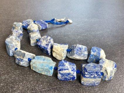 náhrdelníky z minerálů, lapis lazuli surový náhrdelník