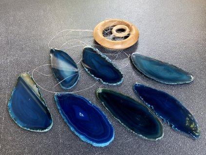 zvonkohry z minerálů, achát modrozelený zvonkohra