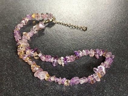 náhrdelníky z minerálů, ametrín náramek