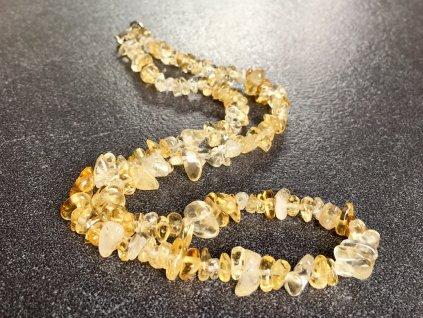 náhrdelníky z minerálů, citrín náhrdelník