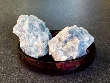 surové minerály, kalcit modrý surový