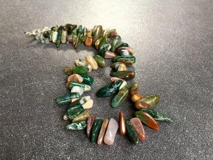 náhrdelníky z minerálů, achát náhrdelník