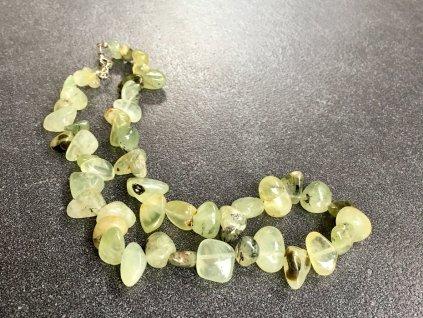 náhrdelníky z minerálů, prehnit náhrdelník