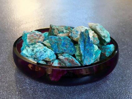 surové minerály, chryzokol surový