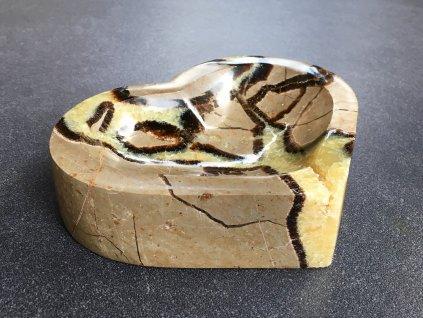 misky z minerálů, černá septárie miska