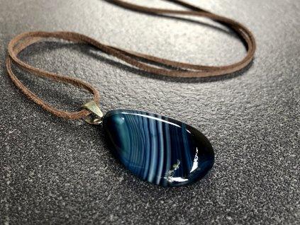 přívěsky z minerálů, achát modrý přívěsek