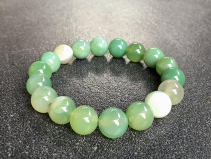 náramky z minerálů, achát zelený náramek