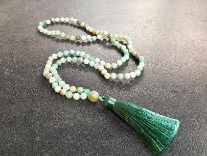 mály, náhrdelníky z minerálů, mála náhrdelník amazonit