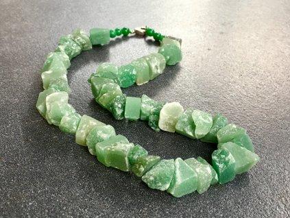 náhrdelníky z minerálů, avanturín zelený náhrdelník