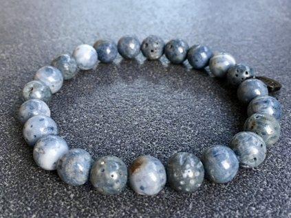náramky z minerálů, korál modrý náramek