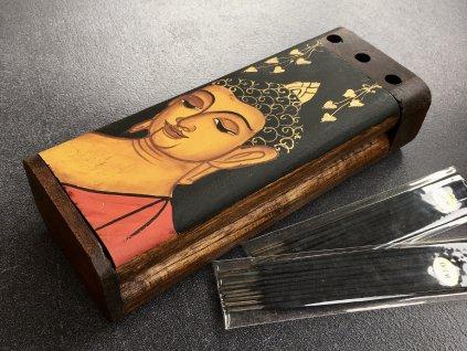 dárková krabička, kazeta dřevěná, ručně malovaná