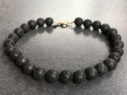 náhrdelníky z minerálům láva náhrdelník