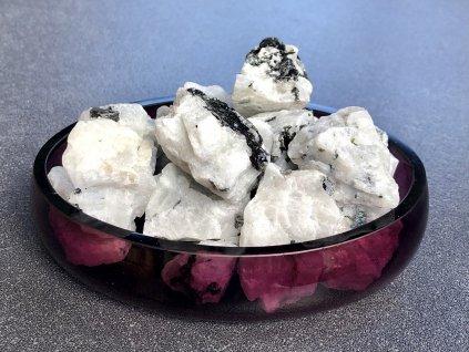 surové minerály, měsíční kámen bílý surový