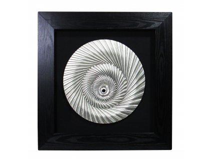 499 dekorace l stribrna lastura 80 cm