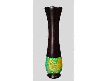 4978 drevena vaza 30 cm thajsko