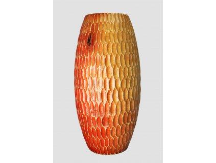 4948 drevena vaza 30 5 cm thajsko