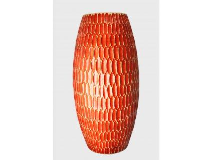 4951 drevena vaza cervena 30 5 cm thajsko