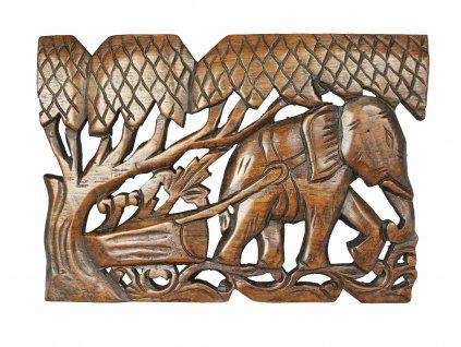 3832 drevorezba 30x20 cm thajsko hneda lesk