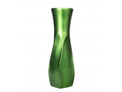 3604 vaza drevena zelena 35 5 cm thajsko