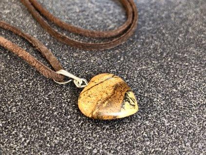 přívěsky z minerálů, jaspis obrázkový přívěsek