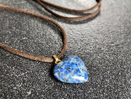 přívěsky z minerálů, lapis lazuli přívěsek srdce