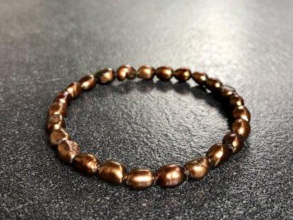 náramky z minerálů, říční perla náramek