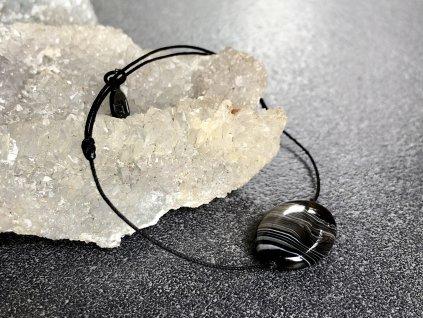 náramky z minerálů, achát černý náramek simple
