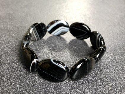 náramky z minerálů, achát černý náramek