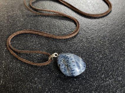 přívěsky z minerálů, korál modrý přívěsek