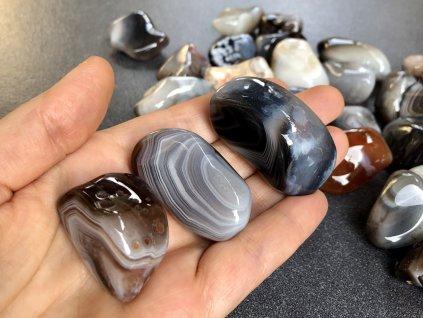 tromly z minerálů, achát Botswana troml