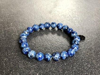 náramky z minerálů, jaspis sezamový modrý náramek