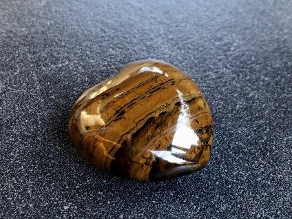 srdce z minerálů, tygří oko srdce